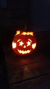 Glenna's completed Jack-o-lantern